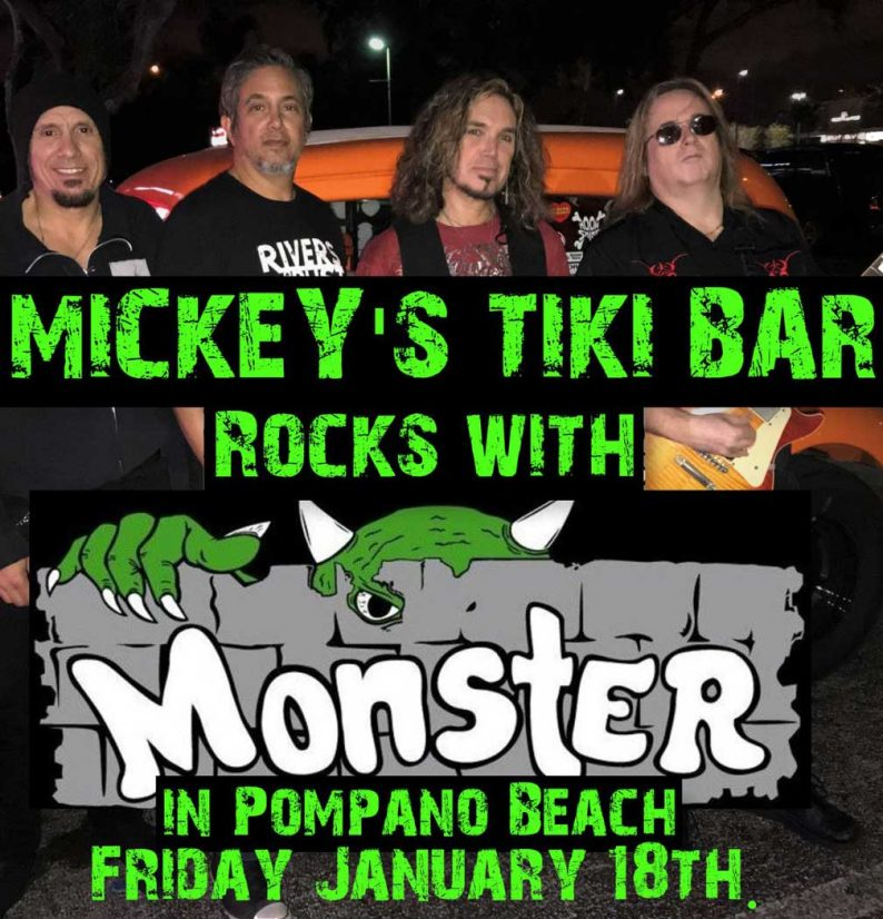 Mickey's Tiki Bar Rocks With Monster