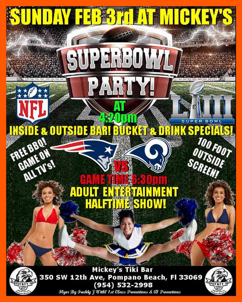 The Real Super Bowl Party At Mickey's Tiki Bar